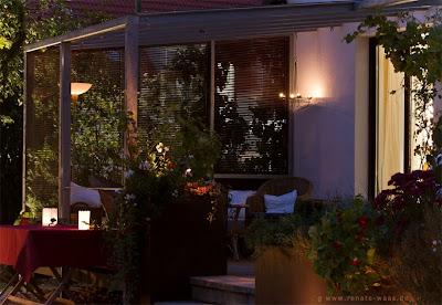 Licht im Garten - romantische Beleuchtung für die Terrasse und den Sitzplatz
