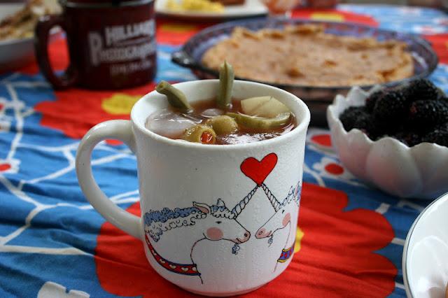 Bloody Mary in a Unicorn Mug