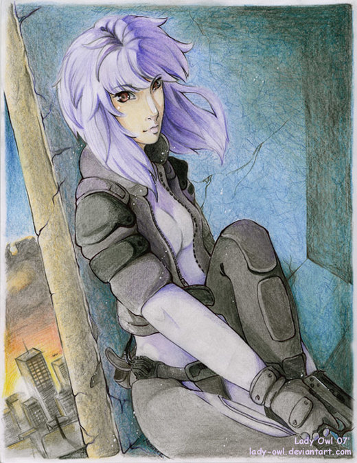 Major Motoko Kusanagi por Lady-Owl