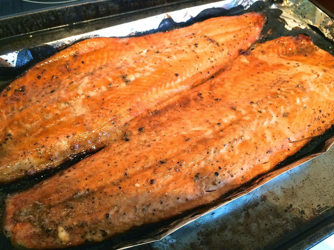 how to cook trout with skin on