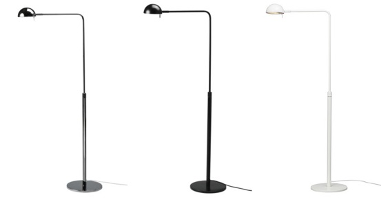 ikea floor lighting. Ikea 365+ BRASA Floor/reading Light. Article Number: 901.488.27. Price: $69.99. Availability: In-store Only. Colors: Chrome, Black, White Floor Lighting