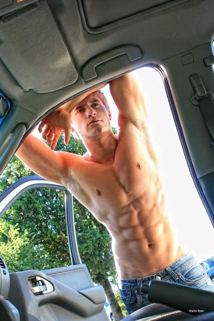 blond male model Andrew Vech