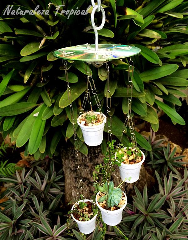 Maquetas con material reciclable ecolog a - Decorar jardines con materiales reciclados ...