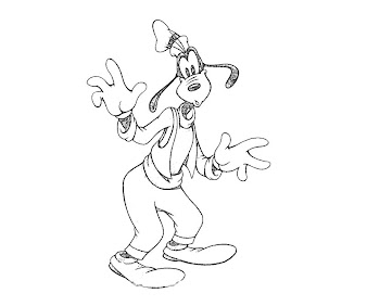 #3 Goofy Coloring Page