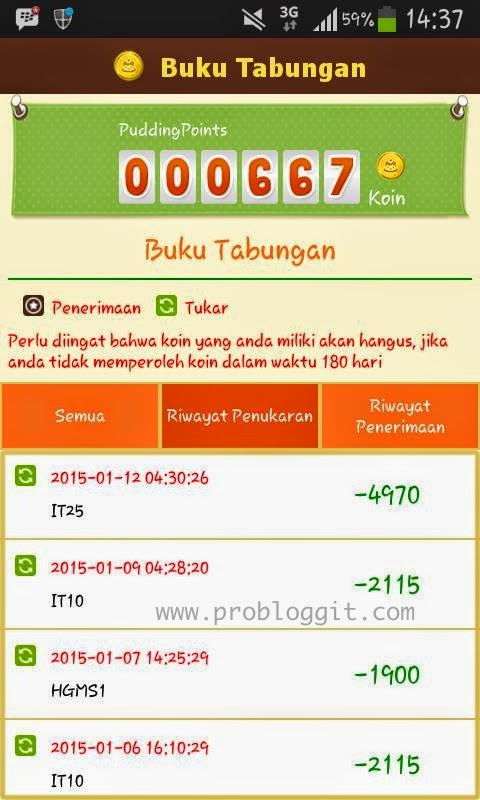 Bukti Pembayaran Pulsa dan Gcash Aplikasi Pudding Point