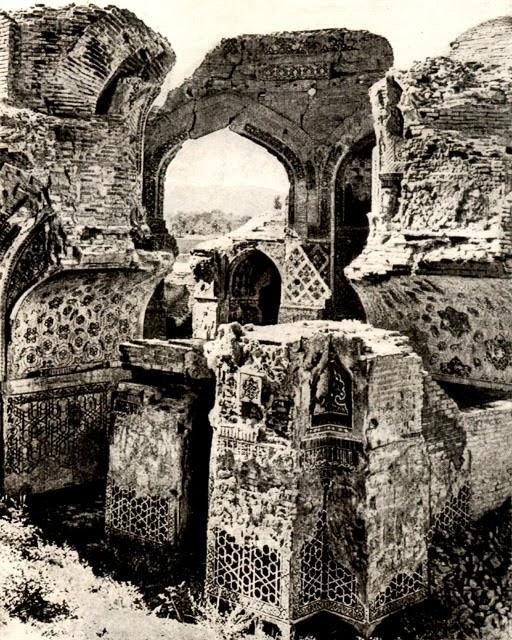 گؤک مسجد قبل از بازسازی در اوایل قرن بیستم