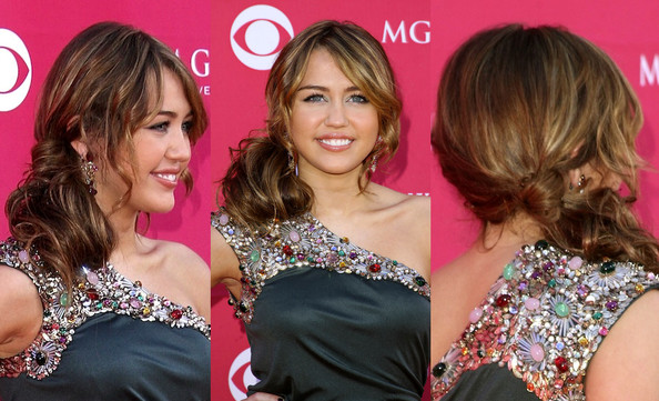 miley cyrus prom hairstyles