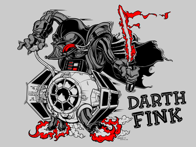 "Star Wars x Rat Fink ""Darth Fink"" Variant Screen Print by Joshua Budich"