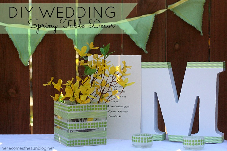 ... today i am sharing some ideas for diy table decor for spring weddings