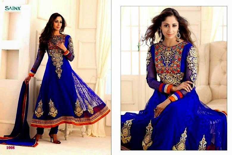 Stylish anarkali dress collection 2014
