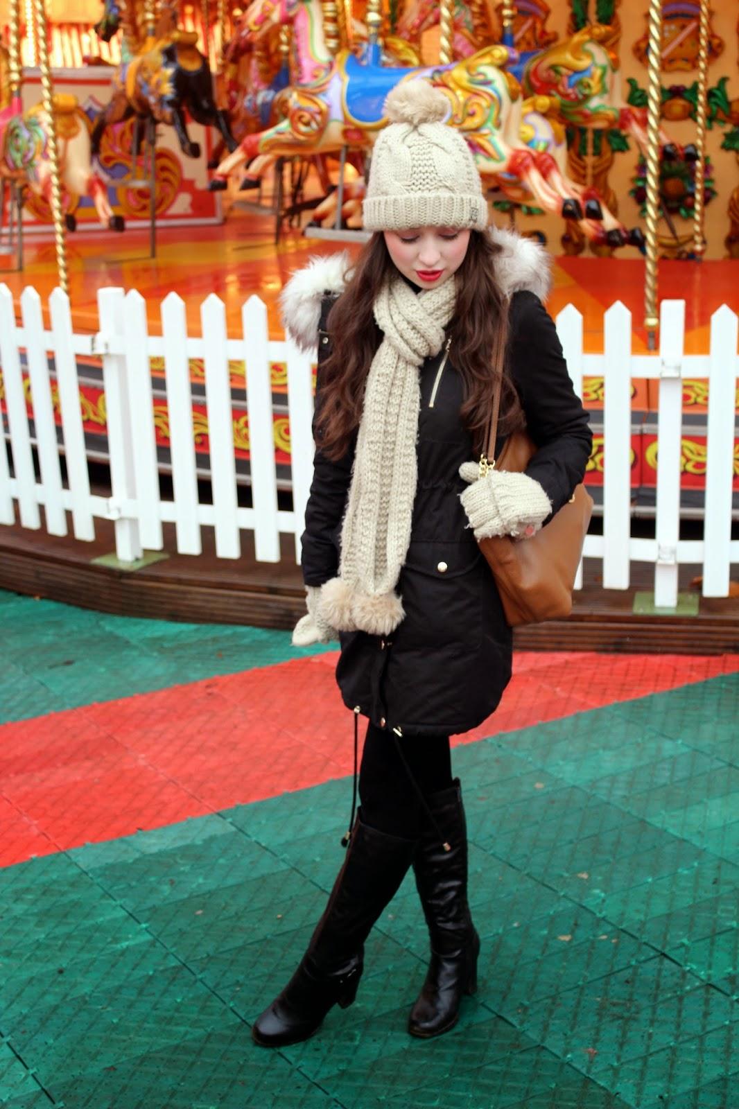 Winter Wonderland Hyde Park miss selfridge new look lipsy michael kors