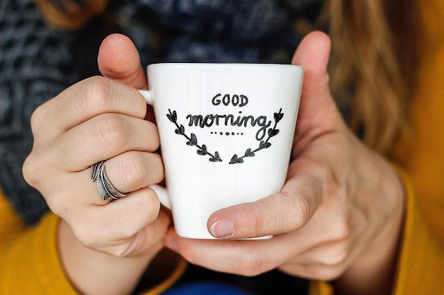 Good morning,Tassen bemalen, Tee, Freizeitidee, Coffee, Geschenkideen, Geschenke, Vater, Mutter, Hochzeitsgeschenk, Weihnachtsgeschenk