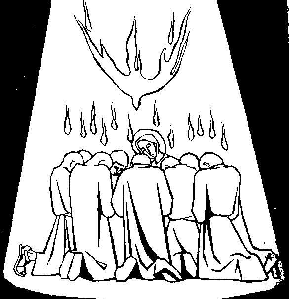 EDUCACIÓN RELIGIOSA: ÁLBUM DE IMÁGENES: PENTECOSTÉS PARA COLOREAR