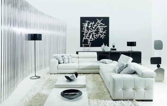 #1 Black & White Livingroom Design Ideas