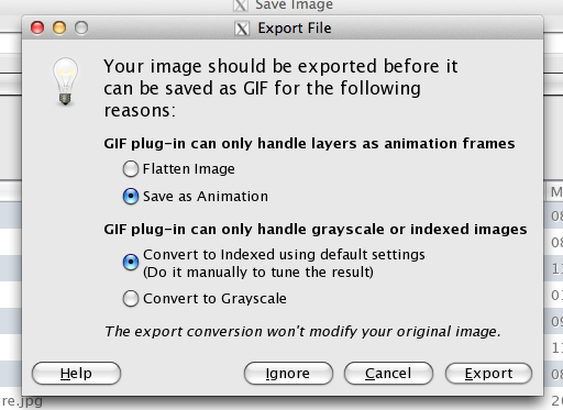 how to make a gif with images gimp