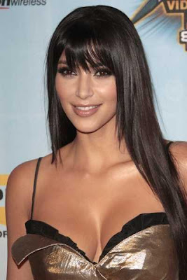 Kim Kardashian Long Straight Hairstyle