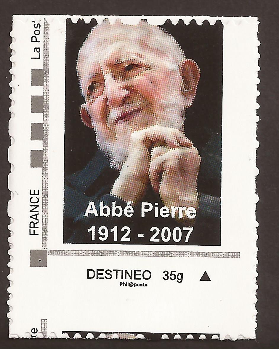 Timbres de france et Variétés: Autoadhésif destinéo - Abbé Pierre ...