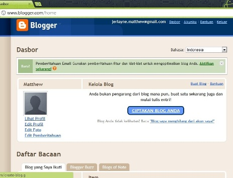 Cara Membuat Blog di Blogspot (Blogger) | Tips Trik, Blogger Blog