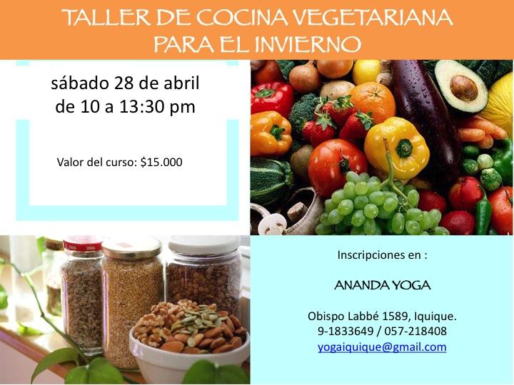 Taller de cocina vegetariana para el invierno ananda yoga for Cocina vegetariana