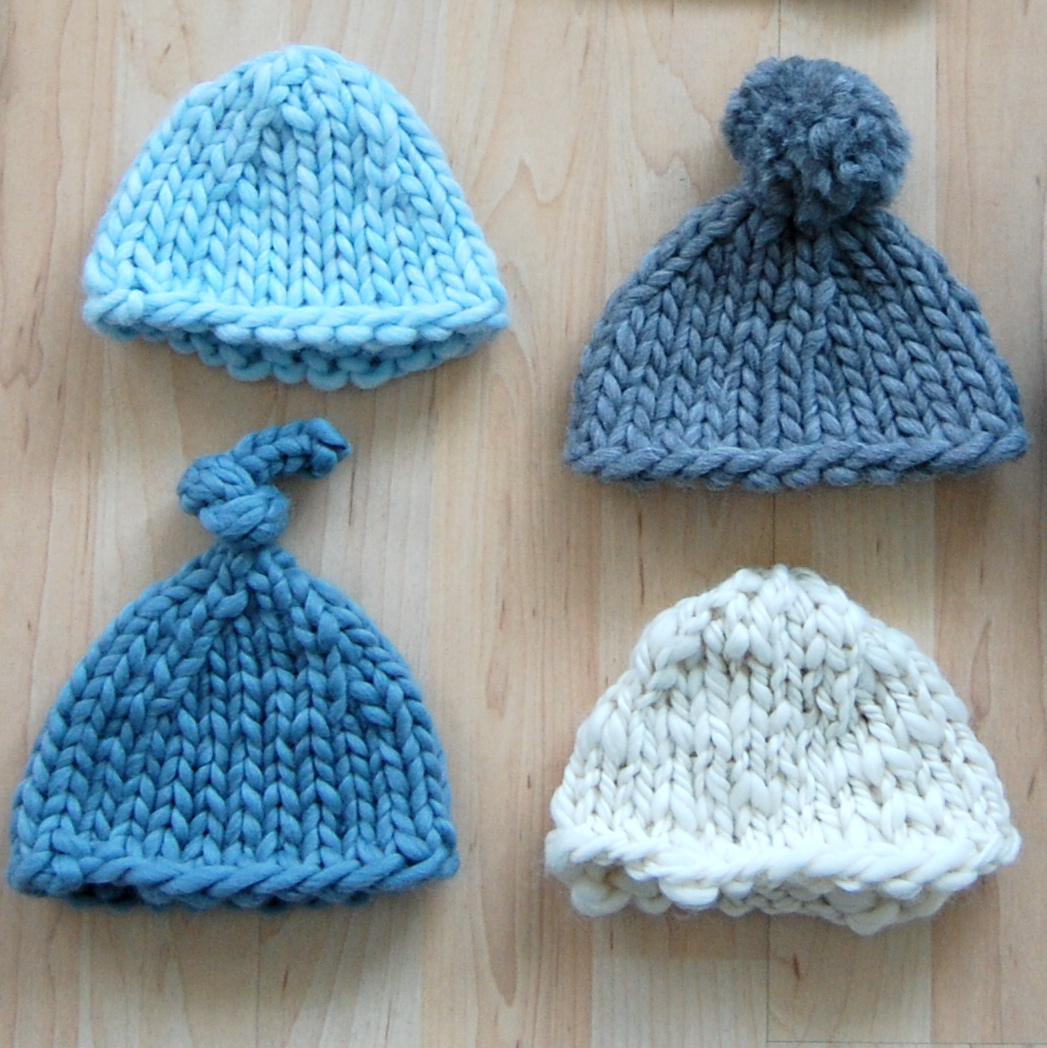 Knitted Baby Beanies Patterns : hey jen renee: new pattern: super bulky newborn hat