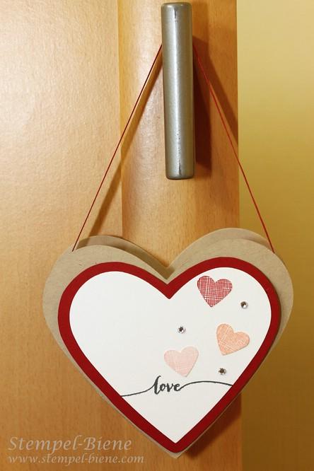 Gebasteltes Valentinstagsherz, Umhängeherz basteln, Stampin Up Valentinstag, Stampin Up Sale a bration, Stampin Up Hello Life, Stampin Up bestellen