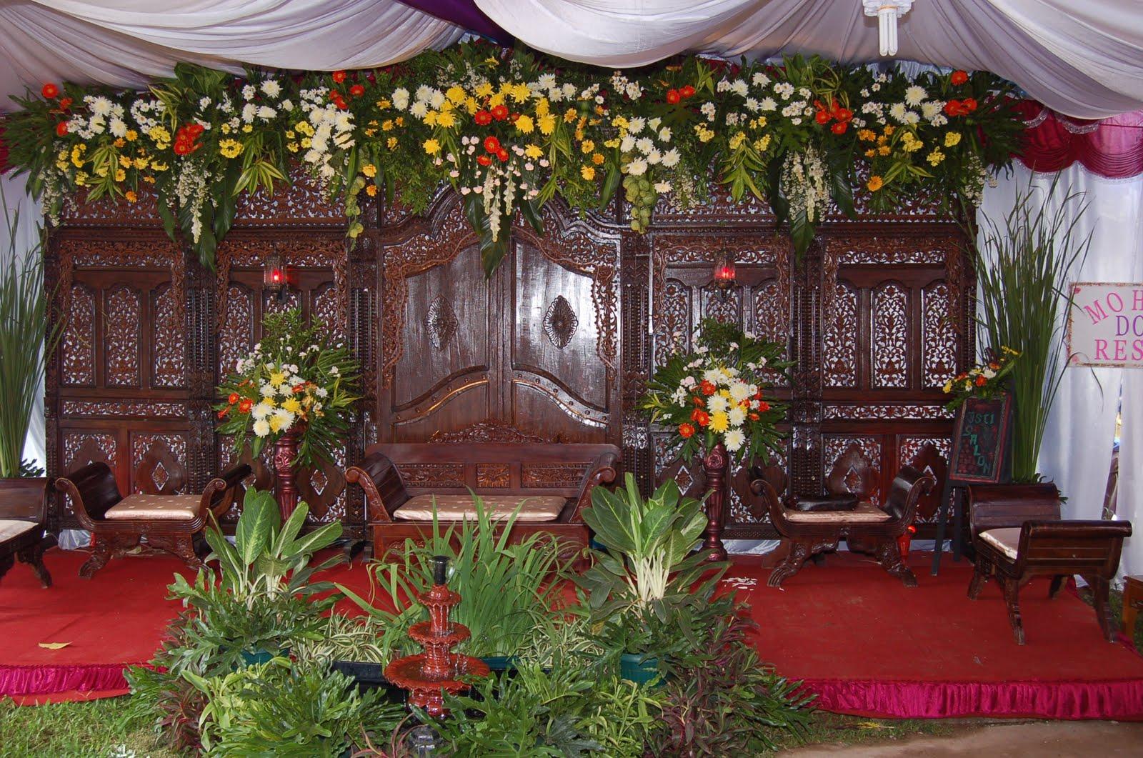 dekorasi manten gebyok untuk di kampung p 6 m t 275 m 1 sofa manten ...