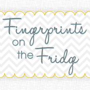 fingerprints on the fridge