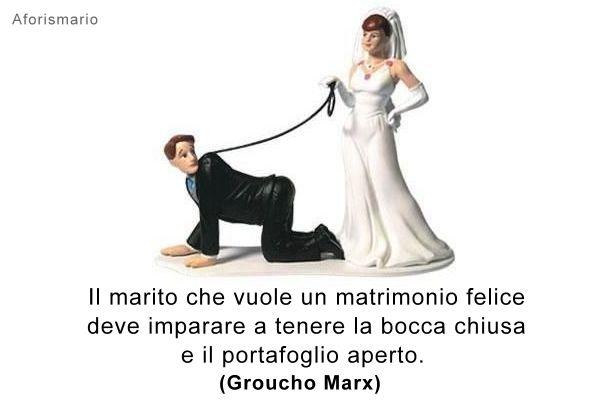 Molto Aforismario®: Sposarsi - Aforismi, frasi e battute divertenti ZY26