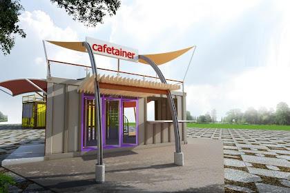 Jasa Desain Cafe Container Kantor Container Ruko Container Eksterior Harga Murah hanya 450ribu