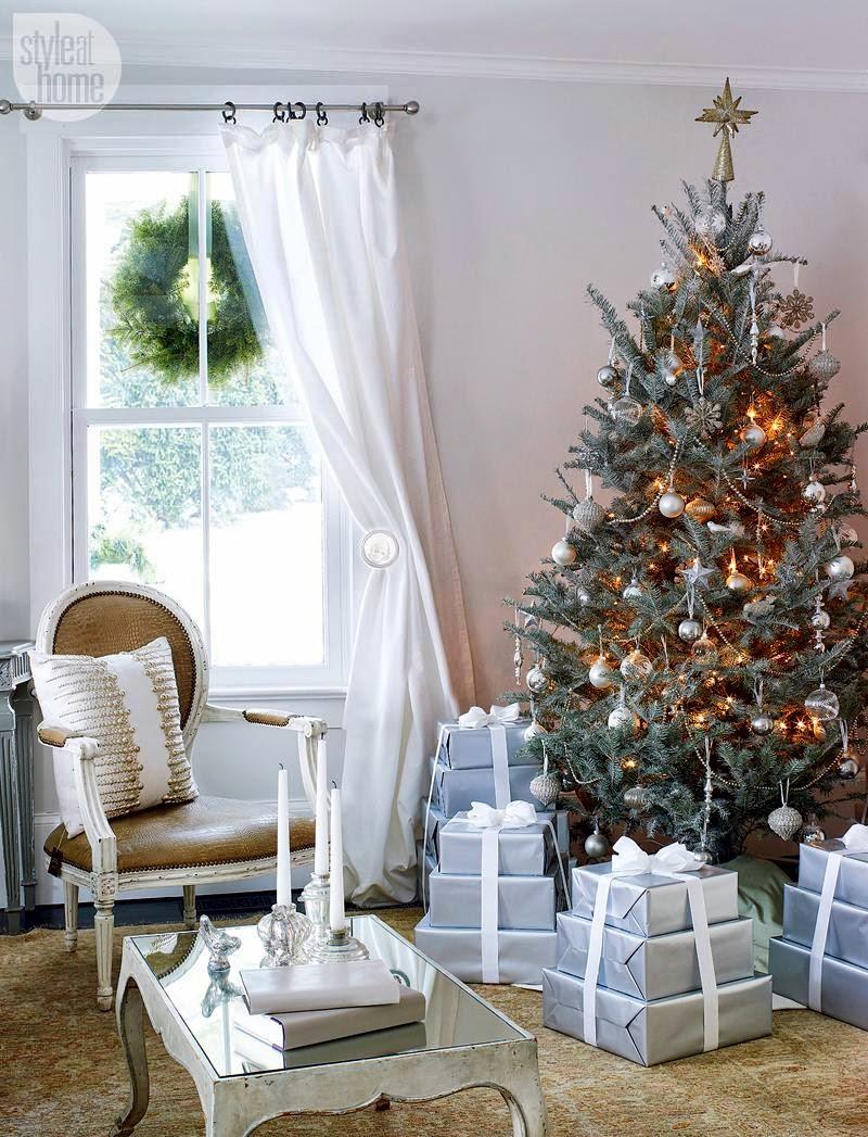 Новогодний интерьер дома фото