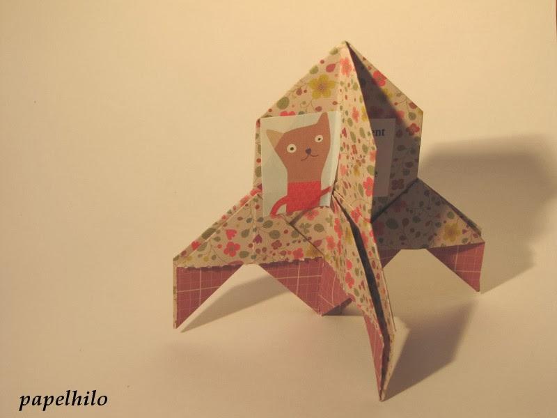 tuto origami fusee