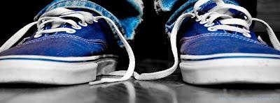Couverture facebook chassure bleu