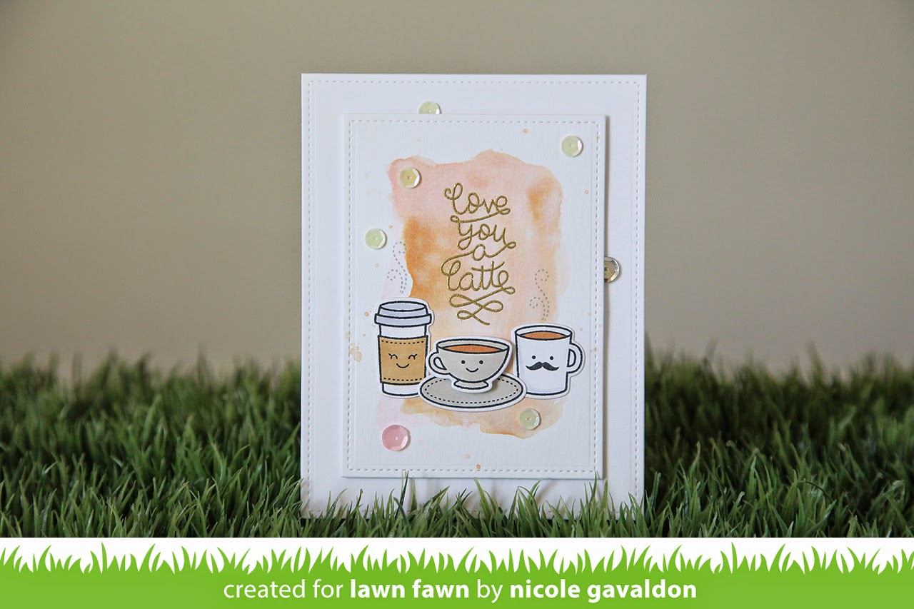 Love You a Latte & Rectangles--Lawn Fawn Inspiration Week