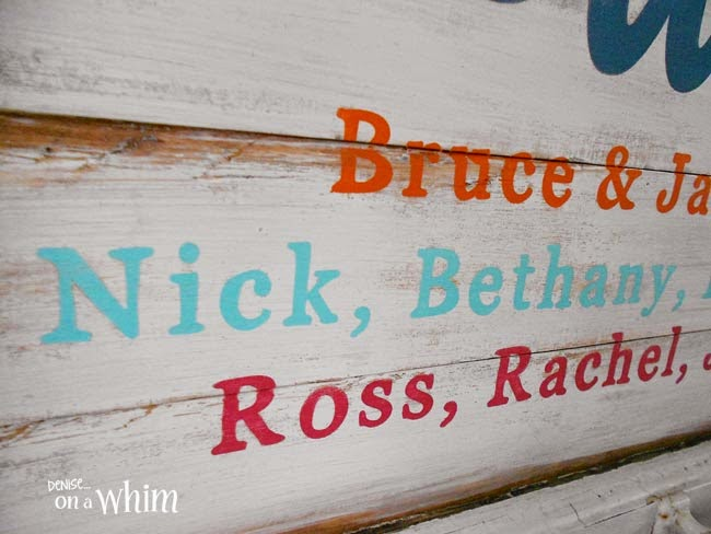 Chalkpaint on a New Cottage Sign from a Repurposed Window  | Denise on a Whim