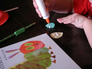 The Very Hungry Caterpillar kindergarten craft