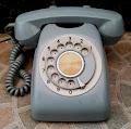 Telepon putar Biru #6
