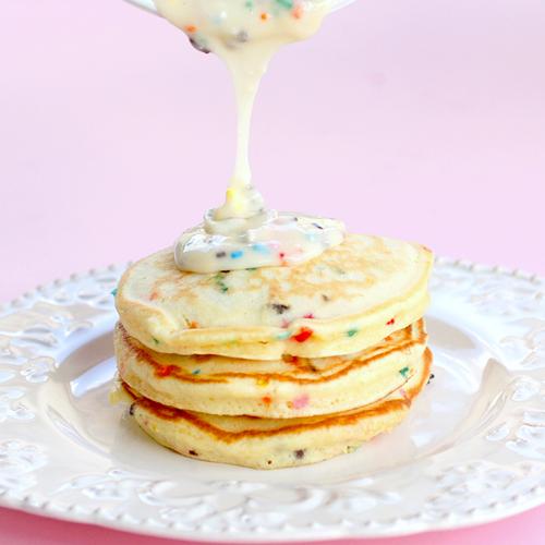 Quick Dish's Birthday Cake Batter Pancakes