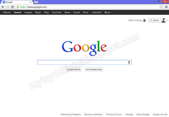 Google Chrome Internet Browser