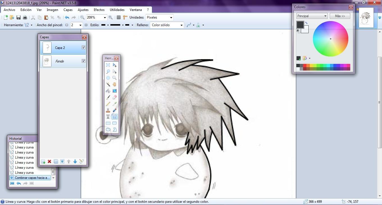 Sunako usando paint net 6 for Programas para dibujar