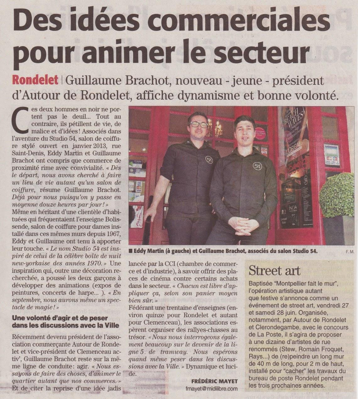 Article paru dans le Midi-Libre du samedi 07 juin 2014, édition de Montpellier.