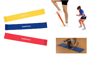 Bundle Monster 3pc New Resistance Loops Home Gym Exercise Pilates Yoga Band Set