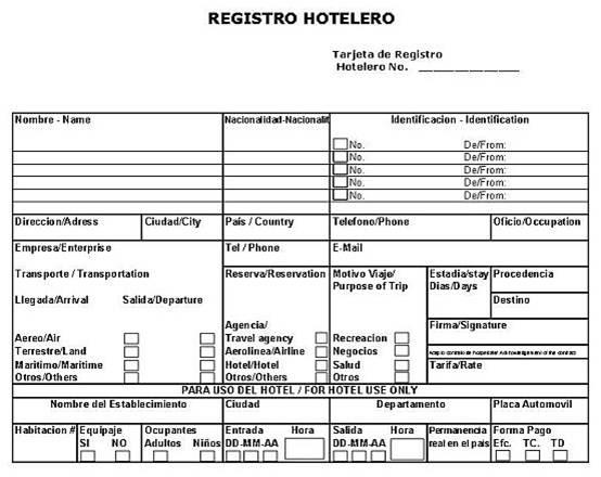 historia de la hoteleria formatos check in