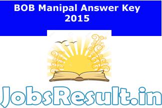 BOB Manipal Answer Key 2015