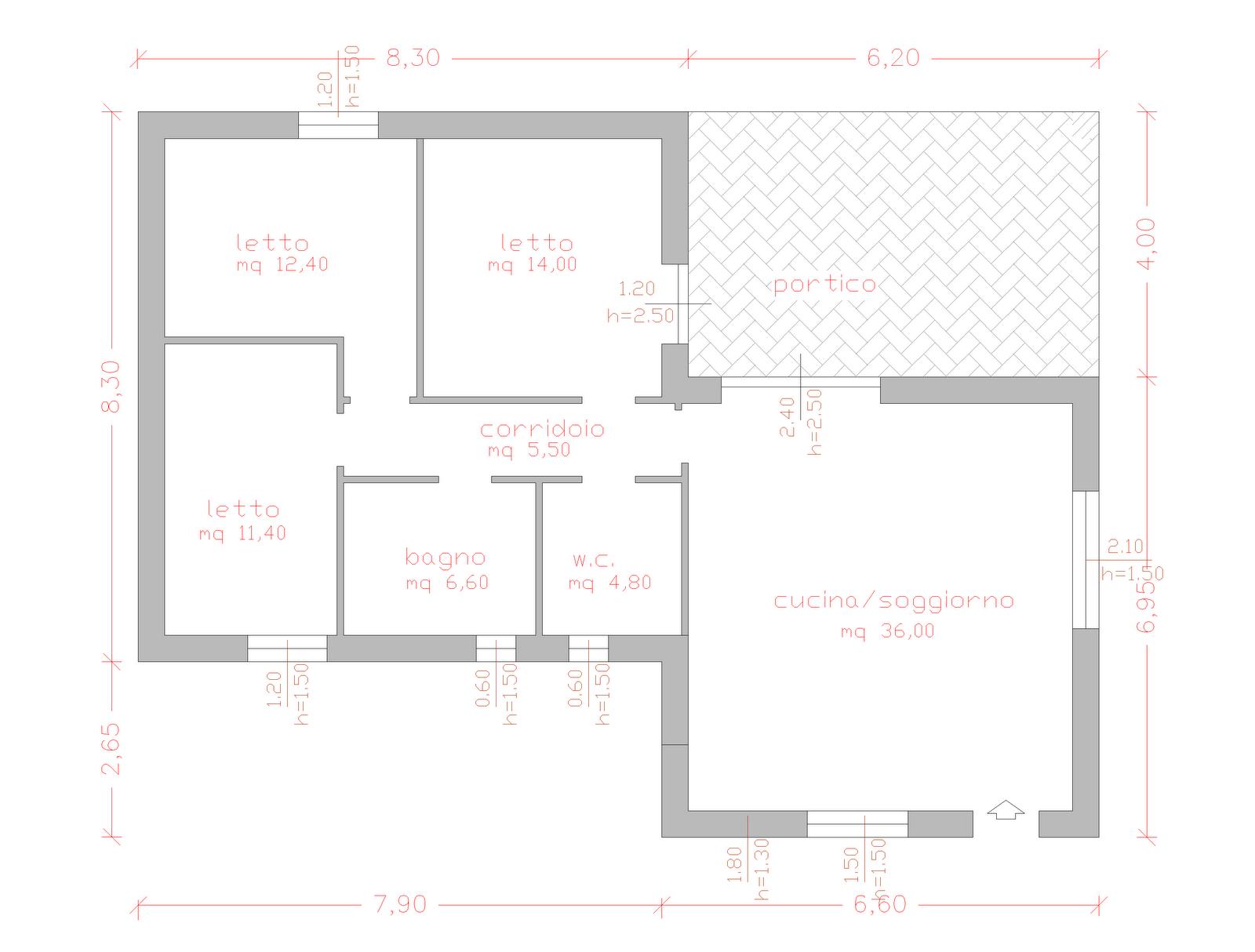 Progetti di case in legno casa 115 mq terrazza coperta 25 mq for Casa in legno 25 mq