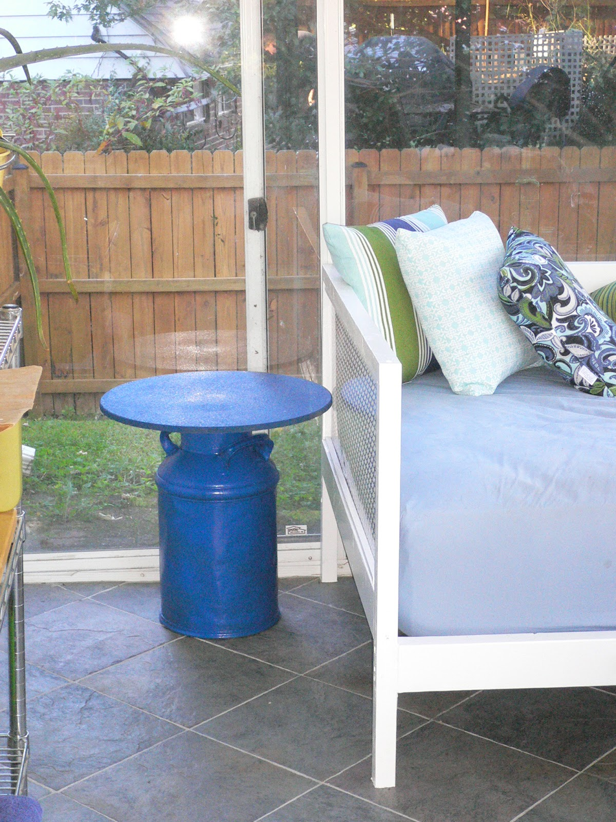 Milk paint home depot home painting ideas for Milk can table ideas