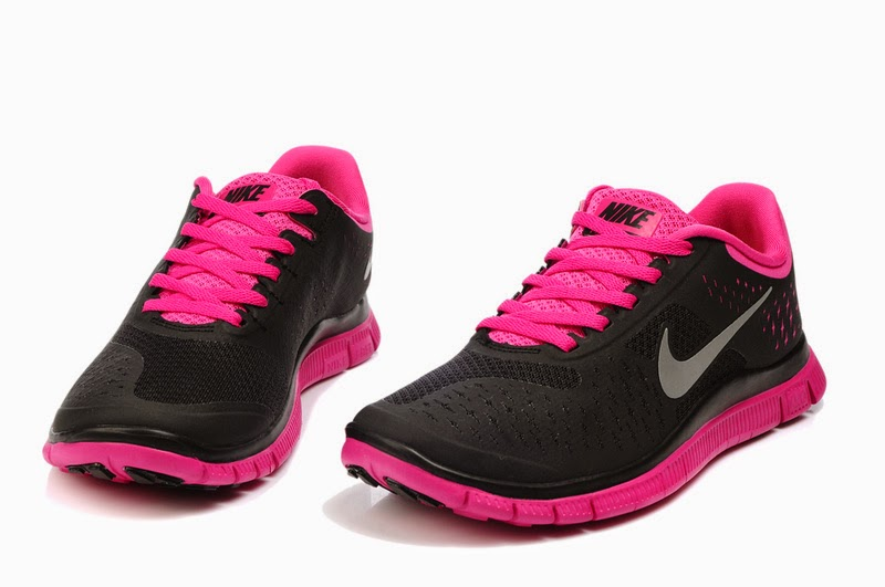 Top Design Nike Free Fourth 4th IV V3 Women Black Pink Sports