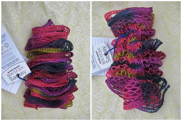 The Yarn Art Cafe Red Heart Boutique Sashay Yarn Demo