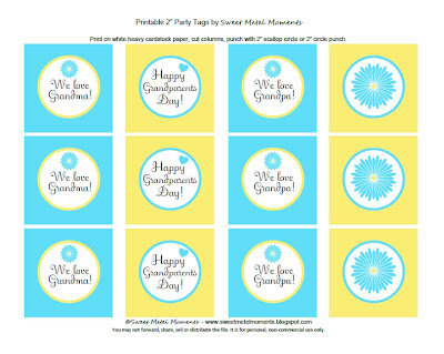 Sweet Metel Moments Free Printable Grandparents Day Party Tags - Cupcake name tag template