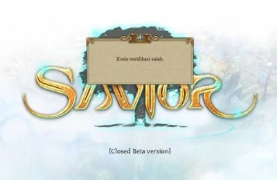 Error Tree Of Savior - Kode Verifikasi Salah