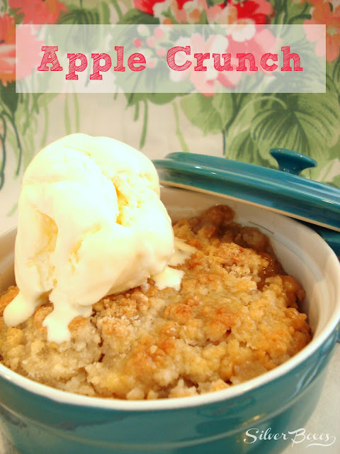 it's apple season - make some apple crunch!